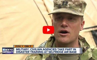 Military, civilian agencies take part in disaster training at Selfridge Air Base